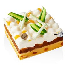 Ganache chocolat lait, crémeux mangue-passion Ananas rôtis au caramel exotique Chantilly vanille de Madagascar RETRAIT EN BOUTIQUE !