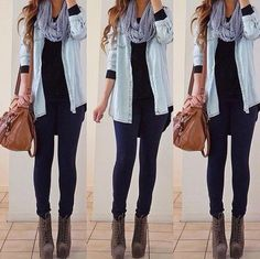 Awesome casual winter outfit.