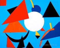Fabulous Kandinsky collage. Great for small hands.