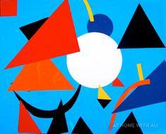 easy Kandinsky inspired art for kids