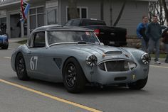 Gray Healey 3000 with Dark Gray Minilite wheels