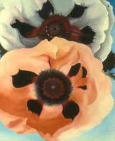 Georgia O'Keeffe 'Poppies', 1950, Milwaukee Museum of Art, Milwaukee, Wisconsin.