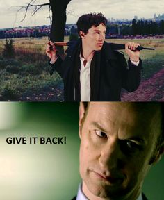 Never take Mycroft's umbrella away from him