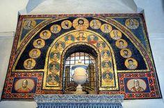 Santa Prassede - Sacello di San Zenone - mosaico sopra l'ingresso  #TuscanyAgriturismoGiratola
