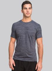 The Everyday Tee in river. Crafted from an ultra-soft blend of nylon, polyester and spandex, our tee features a relaxed fit and casual cut that will keep you feeling fresh long after your workout ends. Shop this and other styles at www.coryvines.com