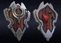 ArtStation is the leading showcase platform for games, film, media & entertainment artists. New Fantasy, Fantasy Armor, Fantasy Weapons, Dark Fantasy, Armor Concept, Weapon Concept Art, Helmet Armor, Sword Design, Shield Design