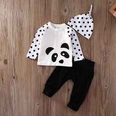 >> Click to Buy << Kids Baby Boy Girl Clothes Cotton T-Shirt Tops Pants Hat 3pcs Suit Outfits Set #Affiliate