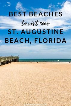 Here's a guide to the best beaches near St. Augustine Beach, Florida, including Butler Beach, Ponte Vedra Beach, Anastasia State Park and beyond. Florida Vacation, Florida Travel, Florida Beaches, Vacation Spots, Travel Usa, Destin Beach, Beach Trip, Beach Vacations, Beach Travel