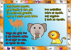 Aula virtual de audición y lenguaje: Adivinanzas de animales Peanuts Comics, Fictional Characters, Rhyming Activities, Poetry For Kids, Project Based Learning, Spanish Class, Wild Animals, Fantasy Characters