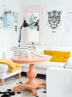 Pinsperation: Come on a peach & polka dot home safari - dropdeadgorgeousdaily.comhom