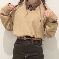 Fall Fashion Outfits, Preppy Outfits, Dope Outfits, Autumn Fashion, Korean Girl Fashion, Ulzzang Fashion, Aesthetic Fashion, Aesthetic Clothes, Really Cute Outfits