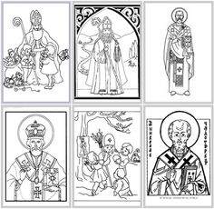 advent coloring pages catholic | Check out this St. Nicholas Pizza