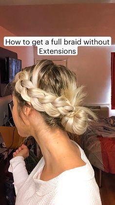 Easy Hairstyles For Medium Hair, Work Hairstyles, Medium Hair Styles, Short Hair Styles, Hairstyles With Braids, Fairy Hairstyles, Hairstyle For Long Hair, Easy Braided Hairstyles, Hair Braiding Styles