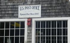 U.S. Post office Hyannis Port Cape Cod Hyannis Port, Cape Cod Massachusetts, Post Office, Offices, Men's Fashion, Stamps, Travel, Moda Masculina, Seals