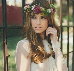 Linda a coroa de flores