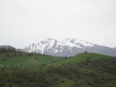"""Mount Sirino is at the right side of mount Papa when viewed from Seluci zone along the SS 653 state road """"Sinnica""""."""