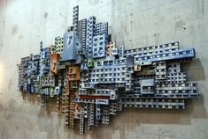 Jana & JS Installation Interactive, Sci Fi City, Invisible Cities, Architectural Sculpture, Cardboard Art, Ceramic Houses, Building Art, Urban Architecture, Mural Wall Art