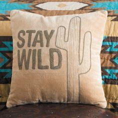 Stay Wild Velvet Cacti Pillow