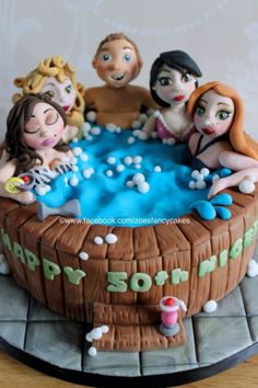 Hot Tub Birthday Cake by zoesfancycakes on DeviantArt Pool Party Cakes, Pool Cake, Unique Birthday Cakes, Happy 60th Birthday, Sexy Cakes, Cute Cakes, Zoes Fancy Cakes, Spa Cake, 40th Cake