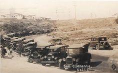 Parking at the pier, San Clemente 1928