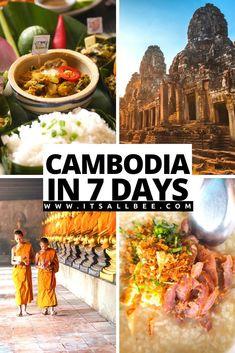 Cambodia Travel Itinerary - The perfect 7 day Cambodia itinerary. ANGKOR WAY TEMPLES - MARKETS - BEACHES