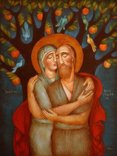 Christian Images, Christian Art, Religious Icons, Religious Art, Symbolic Art, Biblical Art, Art Icon, Naive Art, Visionary Art