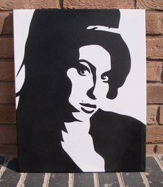 Amy Winehouse 1983-2011 Made with a handcut stencil and spraypainted onto canvas