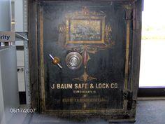 Antique Safes: an old acme safe, safes and vaults, combination dial Antique Safe, Dangerous Love, Gun Rooms, Safe Lock, Bonnie Clyde, Secret Rooms, Vintage Typography, Cabinet Makeover, Film Noir
