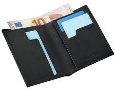 SLIMPURO Dünne Geldbörse aus Leder mit RFID Schutz - Münzfach - Viele Karten - Portmonee - Schlanker dünner Geldbeutel EUR 19,90 Wallet, Fashion, Pocket Wallet, Sachets, Cards, Totes, Leather, Black, Moda