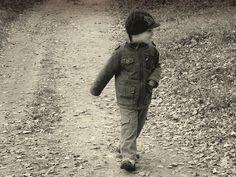 http://pixabay.com/en/baby-path-autumn-black-and-white-436832/