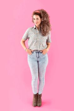Save this '90s nostalgia DIY Halloween costume idea to dress up as Jessie Spano from Saved by the Bell.