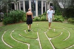 Backyard Labyrinth. Very simple and elegant.