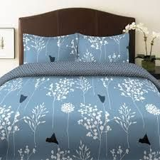 Perry Ellis Asian Lilly Blue Comforter Set - Twin - Blue