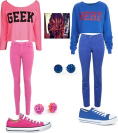 """""""Pinkkk n blueee"""" by ziana-comacho ❤ liked on Polyvore"""