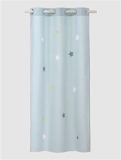 Star Canvas Curtain Blue / Stars