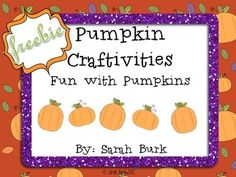 Pumpkin Playdough- and LOTS of FREEBIES!