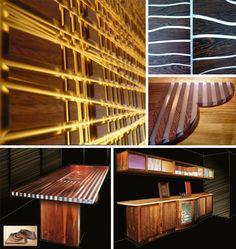 Wild Hybrid Walls: Decorative Wood & Plastic Wall Panelling