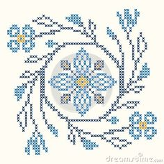 Illustration about Design elements for cross-stitch embroidery in Ukrainian traditional ethnic style. Red and green, illustration. Illustration of plant, cloth, cross - 34686087 Cross Stich Patterns Free, Cross Stitch Borders, Cross Stitch Flowers, Cross Stitch Designs, Cross Stitching, Small Cross Stitch, Cute Cross Stitch, Biscornu Cross Stitch, Cross Stitch Embroidery