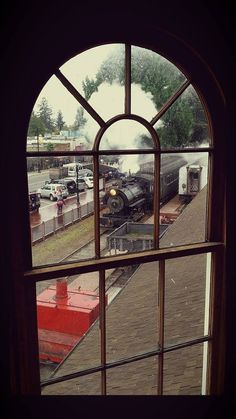 Volunteer Drew Black captured a special view of Halloween Train from the turret of the 125 year old Snoqualmie Depot. Halloween Train, Railway Museum, Train Rides, Seasons, Cars, Fun, Travel, Black, Viajes