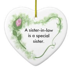 Sister-in-law Ceramic Ornament