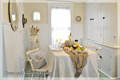 Fall Dining in a Farmhouse Kitchen - Town & Country Living