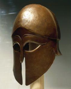 Corinthian type helmet bronze Ancient Rome, Ancient Greece, Ancient History, Greek History, Greek Helmet, Corinthian Helmet, Helmet Armor, Classical Greece, Mycenae