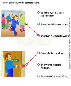 Action Verbs Worksheets 10 - esl-efl Worksheets - kindergarten Worksheets