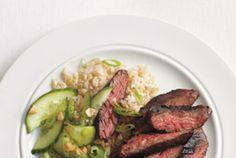 Spicy Hoisin Skirt Steak With Cucumber Salad