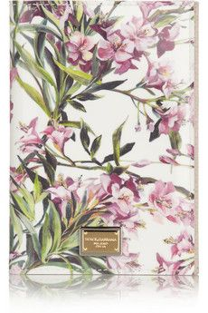 Dolce & Gabbana Floral-print PVC passport cover | NET-A-PORTER