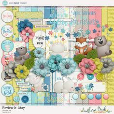 Review It: May by SCD #plaindigitalwrapper #PDW #digital #scrapbook #digitalkit #yearinreview #ReviewIt #SouthernCreekDesigns #SCD
