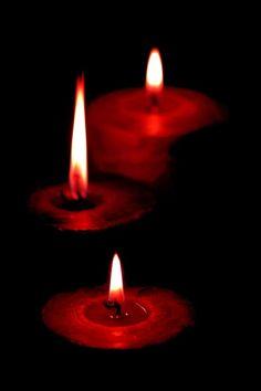 Candlelight creates a sacred space.