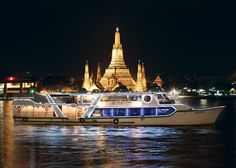 Cruise the majestic Chao Phraya River for an unforgettable dining experience. Shangri-La Hotel, #Bangkok's private riverboat, passing the most celebrated landmarks of Bangkok, Wat Arun and the Grand Palace.