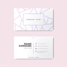 Creative minimal and modern business card design featuring geometric shapes Free Vector - Vintage Business Cards, Letterpress Business Cards, Elegant Business Cards, Business Card Mock Up, Minimal Business Card, Business Card Design, Desgin, Name Card Design, Bussiness Card