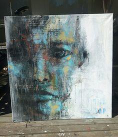 Unfinished piece. #art #acrylic #painting #portrait #frankforsman #picturesbyfrank